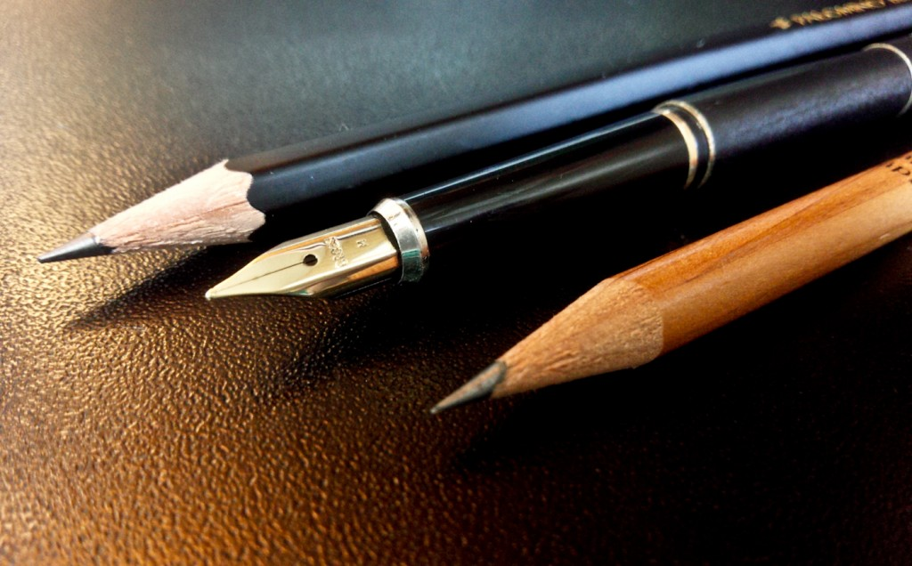 The Cross Century next to a Levenger and a Palomino Blackwing.