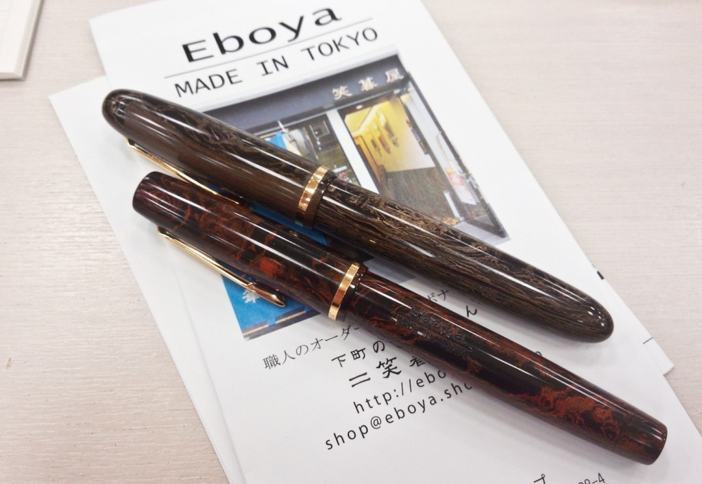 Two ebonite pens from Eboya. The force is strong in these two.