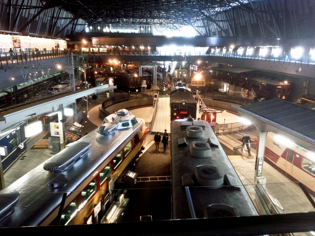 The rail yard part of the museum.