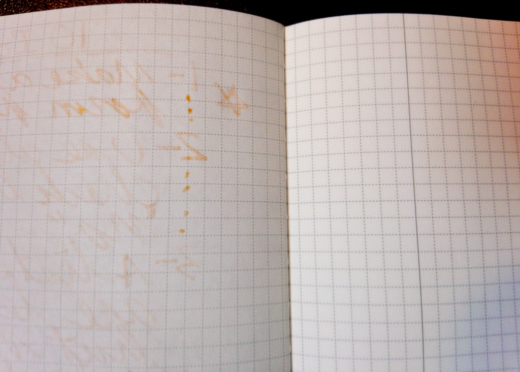 An example of the ghosting. Surprisingly, it didn't bleed through to the next page.