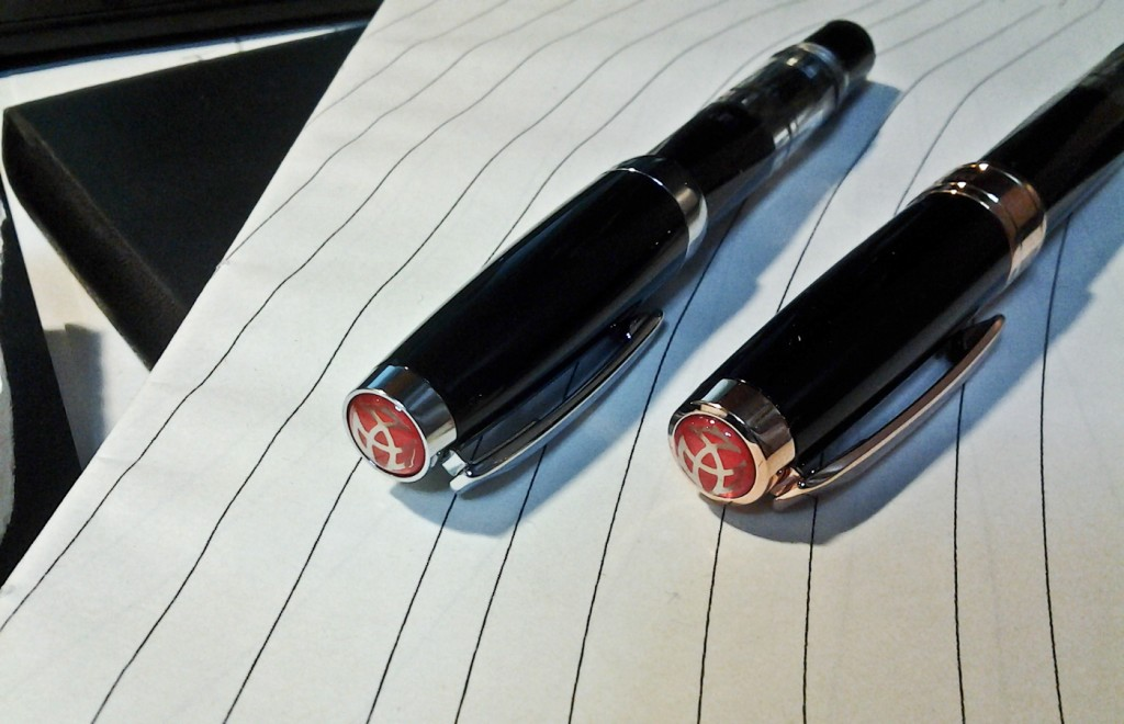 The TWSBI Mini (left) and the 580 (right).