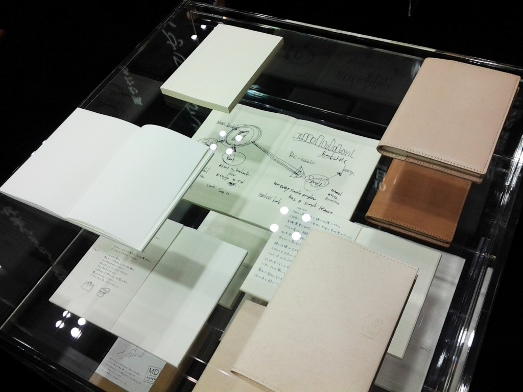 MD Notebooks. the Bottom right has a paper cover that feels like leather.