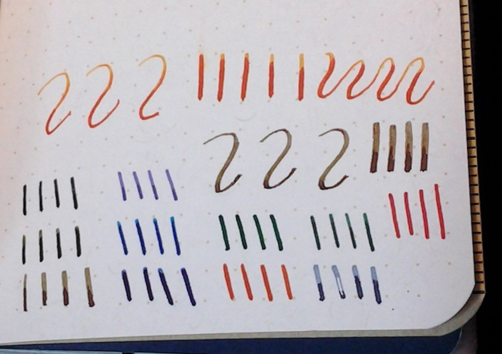 The pen tests. I push fairly had to leave as much ink as I can.