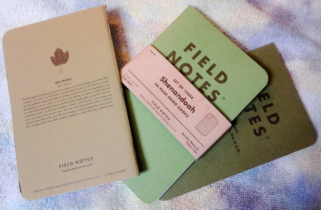 The Field Notes Shenandoah edition.