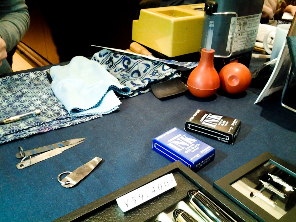 Nakaya's pen maintenance tools.