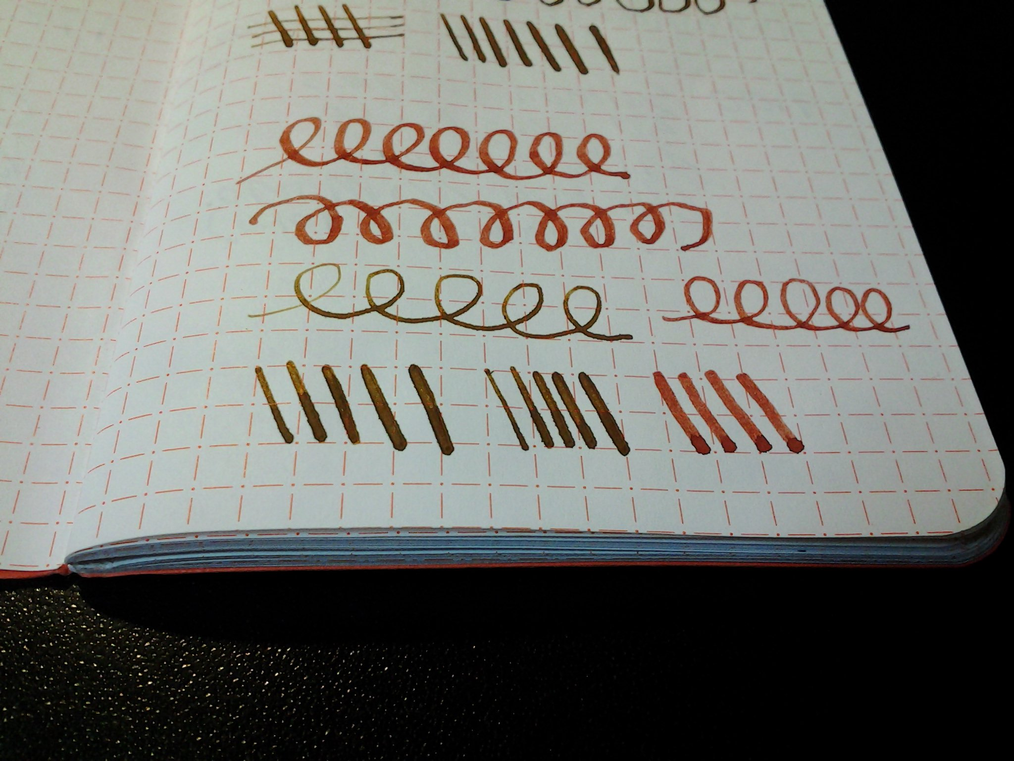 limited edition pen addict notebook end of book review mere blather a close up of the paper