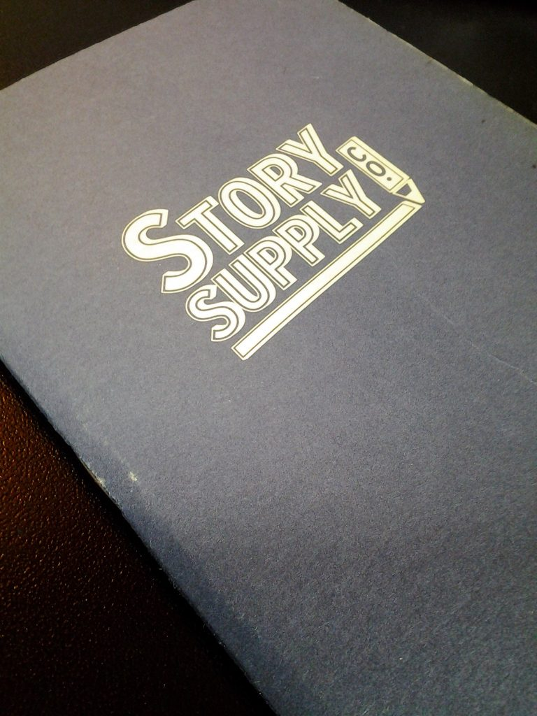 The cover of the Pocket Staple Notebook from Story Supply Co.